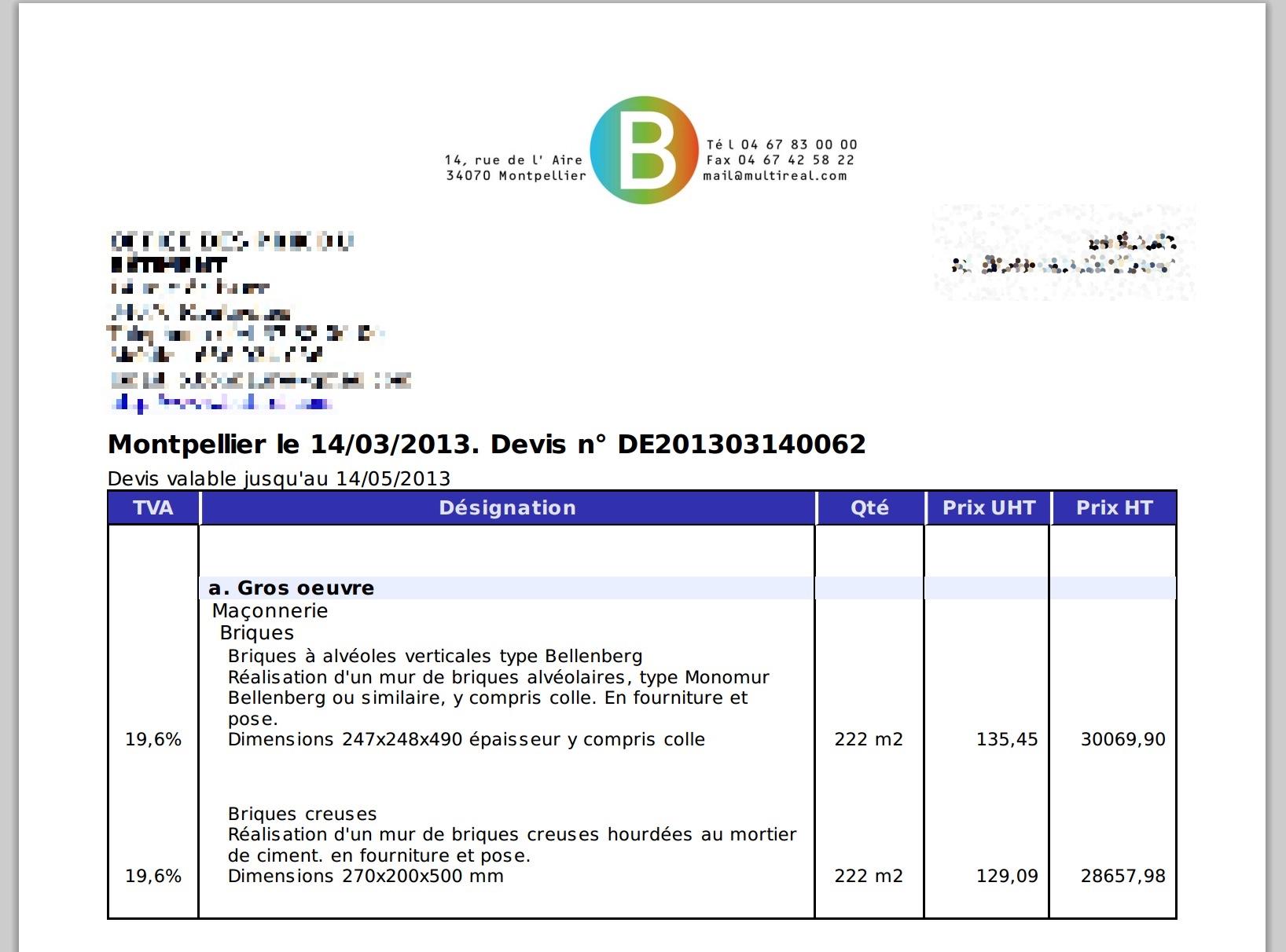 Office des prix du b timent 2016 - Duree de validite d un devis ...